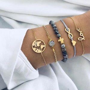 Jewelry - 5 PCS Bracelet Set🌎